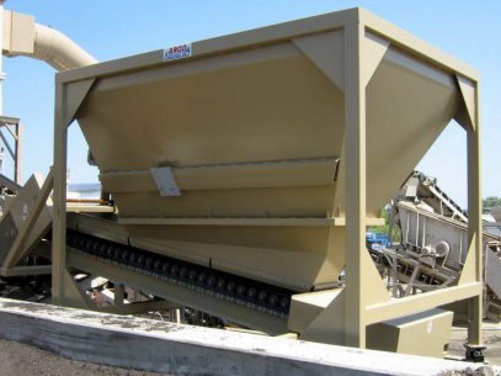Reverse Weigh Bin with Belt Conveyor as Single